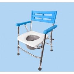 Krzesło toaletowo-prysznicowe, aluminiowe – składane
