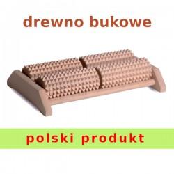 Drewniany masażer do stóp 4 rolkowy