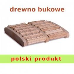 Drewniany masażer do stóp 14 rolkowy